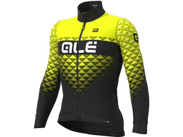 Alé Cycling PR-S Hexa DWR Longsleeve Jersey Heren, black-fluo yellow